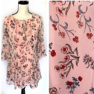 Disney Beauty and The Beast Medium Floral Pink